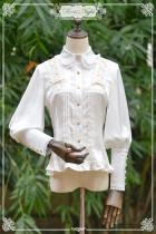DorisNight**Portrait*Double Ribbon with Falbala Satin Lolita Shirt/Blouse