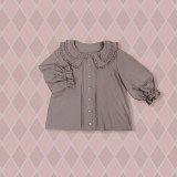 **Cake Tower Collar*Middle Sleeve Inner Blouse 6 Color In