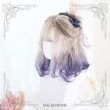 ★Graffiti girl m★50cm +Dyed Hand Curled Lolita Wigs