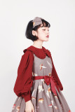 **Broken mushrooms*Printed Lolita Jumper Skirt