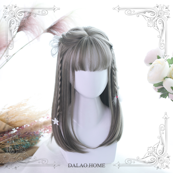 ★Yiko★40cm + Mid-Long straightlolita wig