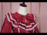 Vintage doll***Satin Lolita Long Sleeve OP  Dress