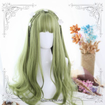 ★Overhead forest★65cm+Grass green curly lolita wig