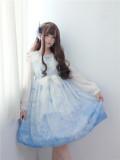 To Alice*Song of the sea prints chiffon lolita dress