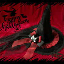 L*Poison modulated*Witch hat Halloween with veil