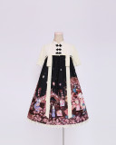 To Alice*Cat lantern shows printing Chinese style lolita op dress