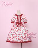 To Alice*Cherry print organza lolita op/jsk dress