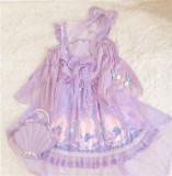 To Alice*The mermaid ptint lolita op dress