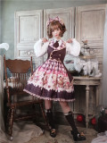 To Alice*Bear lovers series prints lolita jumper skirt