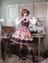 To Alice*Bear lovers series prints lolita jumper skirt