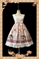 Infanta*Royal tea party rabbit*Printing Sweet Lolita Jumper Skirt