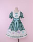 To Alice*Succulent plant print lolita dress