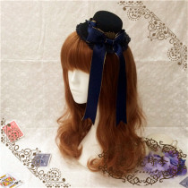 L*The rabbit poker*Lolita sweet mini hat with blue phnom penh