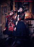 Classical puppets*Dark Alice*mid-sleeves lolita op dress version 9