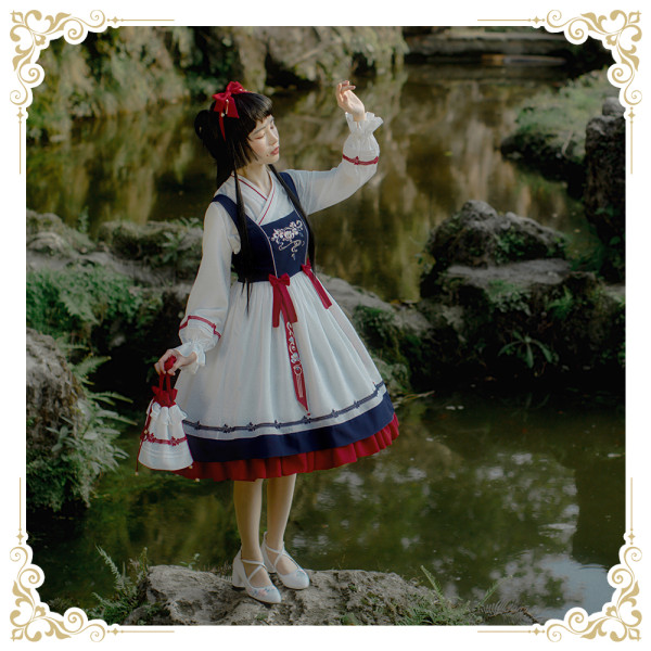 SIKA LOLITA*Camellia*Chinese style embroidery lolita jumper skirt