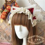 L*猫のロマンス*Cat ear headband type Lace KC