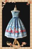 Infanta*The rose cross Popsicle*Printing Sweet Lolita Jumper Skirt