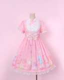 To Alice*Bubble & animal print lolita op dress