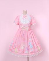 To Alice*Bubble & animal print lolita op dress
