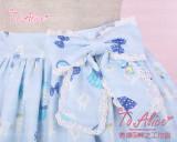 To Alice*Lovely baby's bottle bear prints lolita  skirt