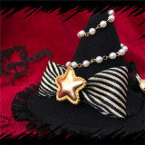 L*Trick or treat*Witch hat Halloween with cute star