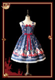 Infanta*The rose cross Popsicle*Printing Sweet Lolita Jumper Skirt