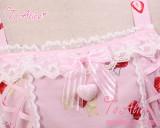 To Alice*Strawberry headgear rabbit and bear prints lolita jumper skirt