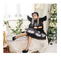 Neverland*Music box*daily high waist lolita jumper skirt