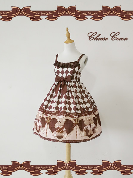 The Scepter Bear Daily High Waist Lolita Jsk Dress