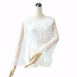 Hime Sleeve Shirt Chiffon Lace Sweet Lolita Blouse