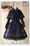 Infanta*Carousel*Lolita Gold Embroidery and Velvet Shawl Overcoat