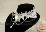 Magnificent Pearl&Rose Palace Lolita Neck Lace