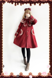 Infanta*New Navy  Collar Preppy Style Coat In Stock