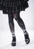 Reina*Bat Cross Printing  Lolita Tights