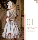 Little Elsa Classical Short Sleeve Lolita OP Dress