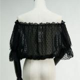 Chiffon Point Lace Chiffon Off Shoulder Lolita inner Blouse/Shirt