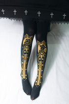 Reina~Alice maiden Hot Stamping Lolita Tights /120D