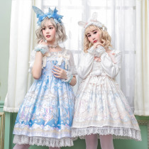 The Ballet Rabbit*Printing Sweet Lolita JSK Dress