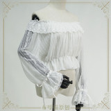 Off Shoulder Hollow Lace Long Sleeves Lolita inner Blouse/Shirt
