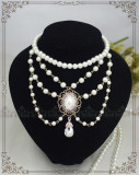 Manor ball III ~Luxuriant Classical Pearl Lolita Choker for Tea Party