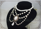 Manor ball III ~Luxuriant Classical Pearl Lolita Choker for Tea Party