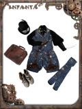 Infanta*Mechanical doll*Steampunk Vest+Pants/Ouji set