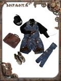 Infanta*Mechanical doll*Steampunk Vest+Pants/Ouji set