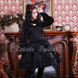 Dark Gothic Torn Sleeve Lolita OP Dress