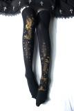 Reina~Star and moon movement Hot Stamping Lolita High sock