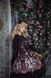Flower Wall Rendezvous Printing High Waist Lolita Jsk Dress