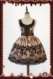 Infanta*Chocolate horse*Sweet Normal waist Lolita Jumper Skirt