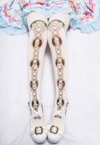 Reina~Bears Printing Velvet Lolita Tights /120d