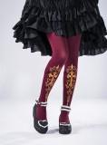 Reina~Cross Hot Stamping Lolita Tights