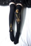 Reina~Moon girl Hot Stamping Lolita High Sock